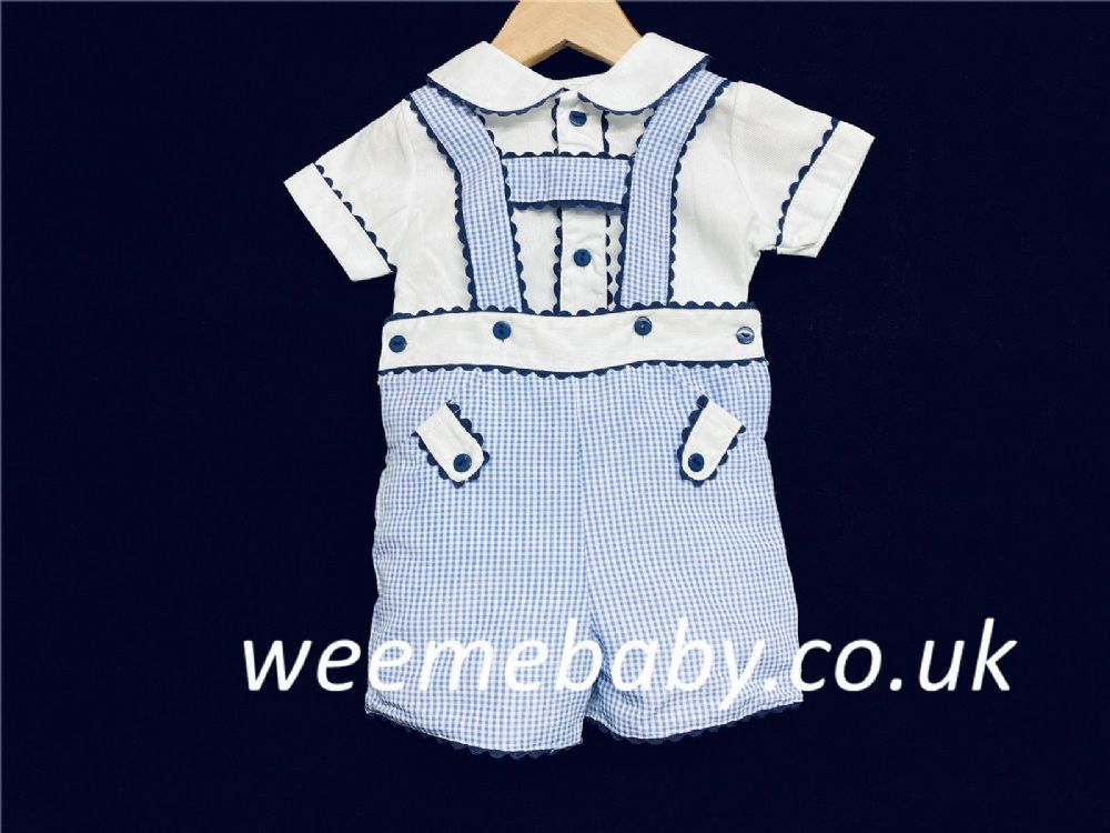 Baby Boy Blue Stripe Romper Set